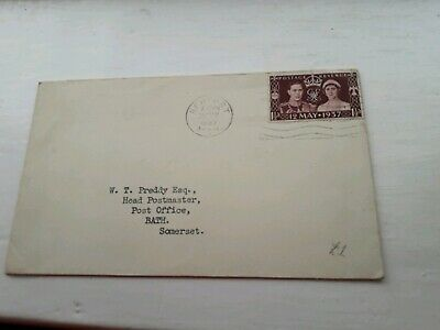 UK 1937 COVER TO HEAD POSTMASTER BATH  STAMPS £3.99 POST FREE WORLDWIDE  bx4