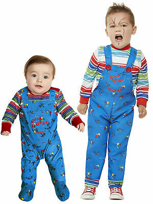 Baby Toddler Chucky Costume Kids Killer Doll Halloween Horror Fancy Dress Outfit