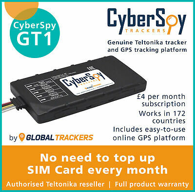 CyberSpy GT1 Car Tracker and Immobiliser Vehicle Fleet Motorbike Car GPS Device