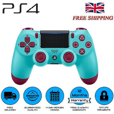 Berry Blue DualShock 4 Wireless Gamepad Controller for Sony Playstation PS4  UK.