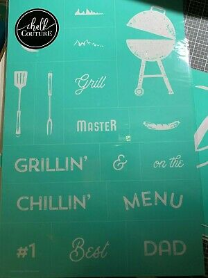 Chalk Couture Transfer, Grill Master RETIRED HTF