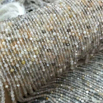 Natural Colourful Moonstone Faceted Loose Beads Diy Accessories Craft Shining