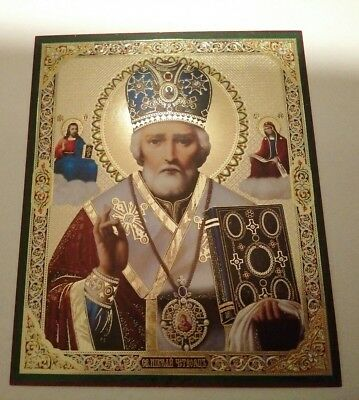 Lithography RUSSIAN ICON, St. Nicholas