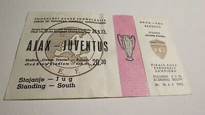 Ticket Champions Cup Final Ajax v Juventus 30/05/1973 'very rare'