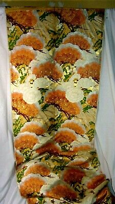 Antique Chinese Silk Embroidered Panel Metallic Silver & Gold Floral  Stunning