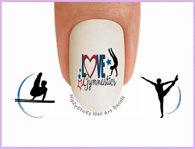 Nail Art #3082 SPORTS Love BOYS Gymnastics #6 WaterSlide Nail Decals Transfers