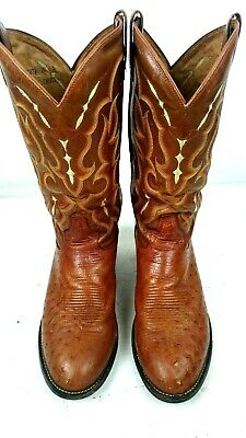 6f4403cfcad MEN'S TONY LAMA Full Quill Ostrich Boots - 10D - 14 Inches Tall