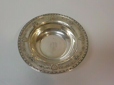 """Watson Sterling Silver Pierced & Embossed 6.5"""" Candy Dish / Bowl, 105 grams"""