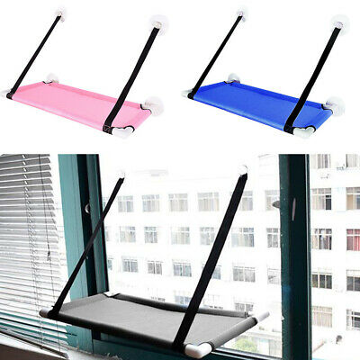 Window Mounted Suction Cup Pet Hammock Mesh Hanging Bed Mat Easy Install Durable