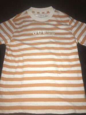 MEN'S M GUESS Jeans Los Angeles USA Vintage Striped Shirt Capsule Collect NWT