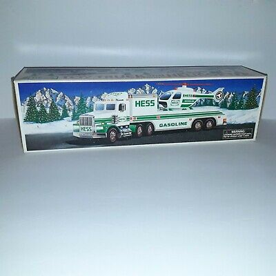 Collectible 1995 Hess Toy Truck and Helicopter NIB
