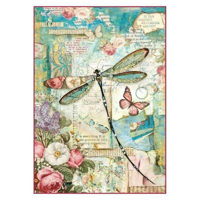 Rice Paper - Decoupage - Stamperia - 1 x A4 Size Sheet - Dragonfly