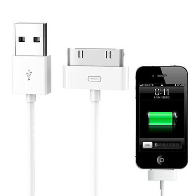 1M Sync Data Cable Cord USB Charger For iPad2 3 iPhone 4 4S 3G iPod Nano White