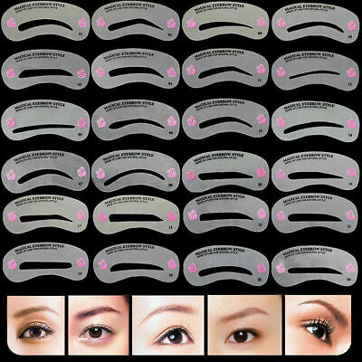 24pcs sourcil pochoir Shaper kit de toilettage sourcils outil de maqui de m X8P1