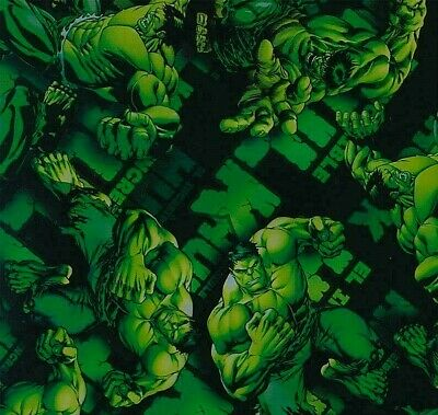 hulk hydrographic film hydro dipped 100cm width, various lengths Folded