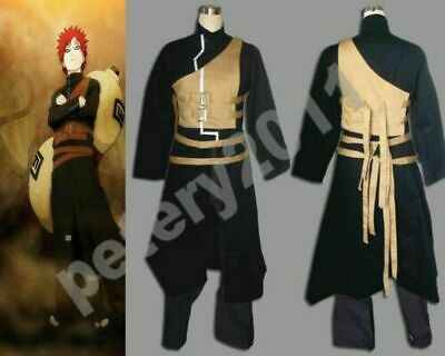 Shippuden Gaara Men's 2nd Cosplay Costume Halloween from N aruto New