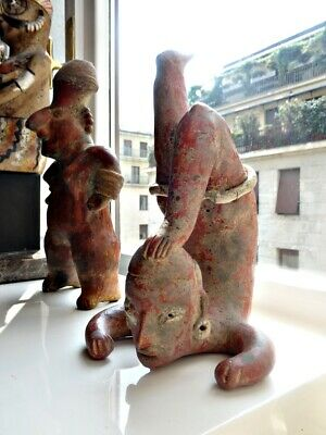 Pre-Columbian, Nayarit, Terracotta Acrobat  ''Clay'' ''Ceramic'' ''figure''
