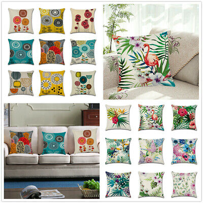 "18"" Abstract Flower Cushion Cover Waist Throw Pillow Case Home Sofa Outdoor Deco"