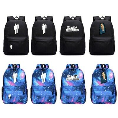 Billie Eilish Boy Girls Backpack Galaxy Print Outdoor Travel Bag Student Bag