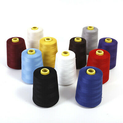 33Color Sewing Thread 7200Yard Polyester Cone Spool for Serger Single Needle
