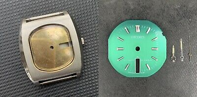 Genuine New Old Stock '1975 Vintage Seiko7006-5070 Ss Case Dial Hands Set