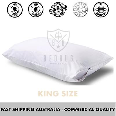 2x Dust Mite Allergy Pillow Protector & Cover | King Size