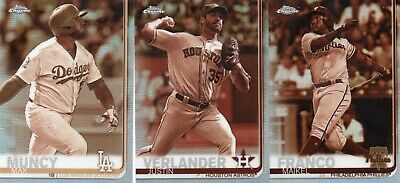 2019 Topps Chrome Sepia Refractors  COMPLETE YOUR SET  FREE SHIPPING