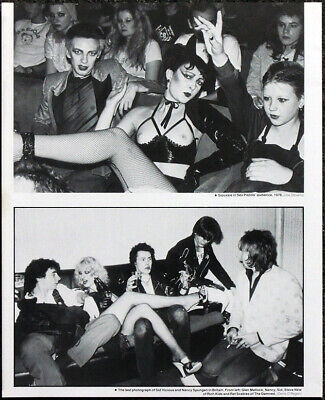 Sex Pistols Poster Page . 1976 Siouxsie Sioux / 1978 Sid Vicious White Kids .S18