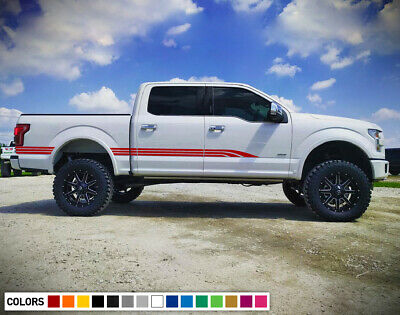 Decal Sticker Vinyl Side Panel Stripes For Ford F150 Raptor Off Road turbo 2018