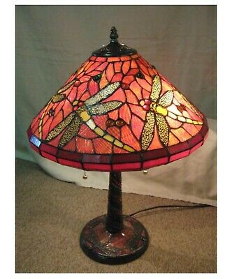 Stained Glass Drangonfly Lamp Tiffany Style