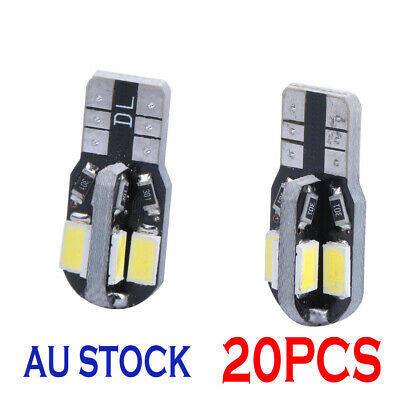20 CANBUS T10 Wedge 8SMD Parker Number Plate LED Bulbs W5W 194 168 131 WHITE NEW