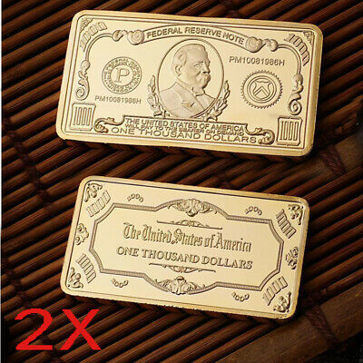 2X Gold Block $1000 Gold Collector's Commemorative Coin