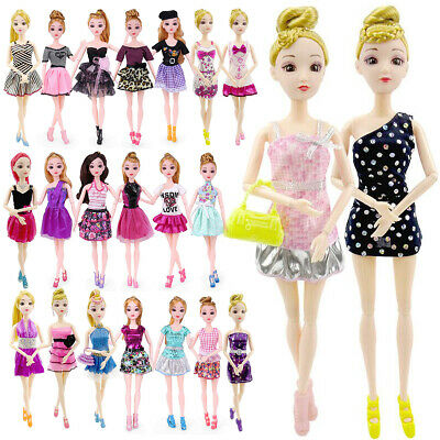 """UK 22pcs/set Fashion Casual Party Dress Outfit Daily Gown For 11"""" Girl Dolls New"""