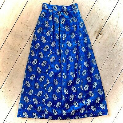 Vintage 1950's Brocade Maxi Evening Skirt Size 6