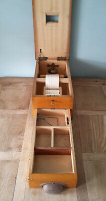 Vintage Antique WOODEN CASH REGISTER / TILL. Bell and Key. Working. See Photos