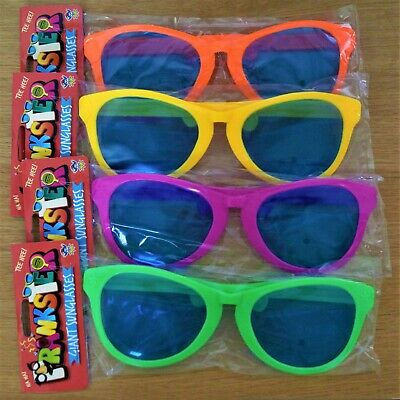 Giant Sunglasses Neon Bright - Prop, Party, Fancy Dress 4 Colours Assorted
