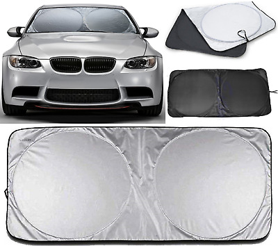 Universal Reflective Car Windscreen Sunshade Front Window Heat Cover Folding New