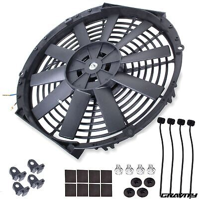 "16"" 12V Electric Custom Sport Kit Car Straight Blade Intercooler Radiator Fan"