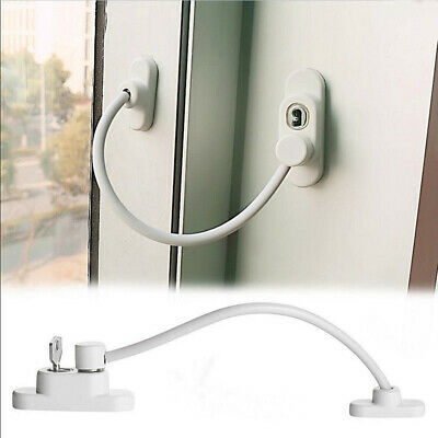 Window Door Restrictor Child Safety Security Locking Cable Wire With Key
