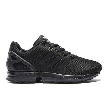 Juniors Boys Adidas Originals ZX Flux J Trainers Shoes Black S82695 UK 3 UK 3.5