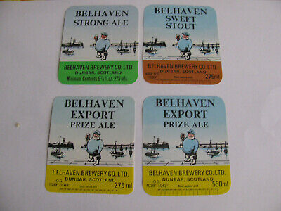 BELHAVEN Brewery Co Ltd  DUNBAR  SCOTLAND  4 (quattro) etichette differenti