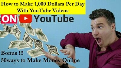 How to Make $1,000 per day with Youtube videos PDF+10 Free Ebooks+50 Online ways