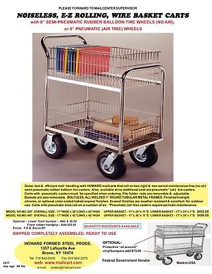 Wire basket carts