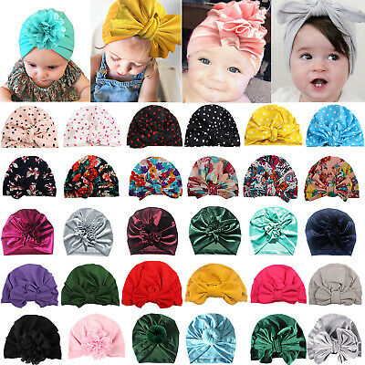Newborn Toddler Baby Turban Headwrap Kids Boy Girl India Beanie Hat Hospital Cap