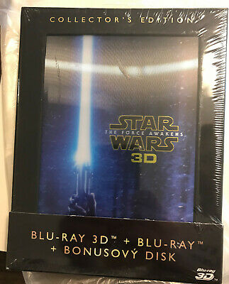 NEW SEALED CZ/EN Star Wars: The Force Awakens Collector's Edition Bluray 3D 2016