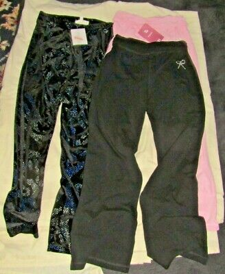 BNWT Bundle of two pairs Elasticated trousers plus sparkly leggings age  9-10