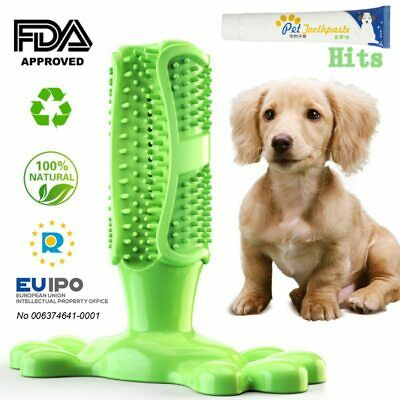 Pet Dog Toothbrush Chew Toy Doggy Brush Stick Soft Rubber Teeth Cleaning Dot
