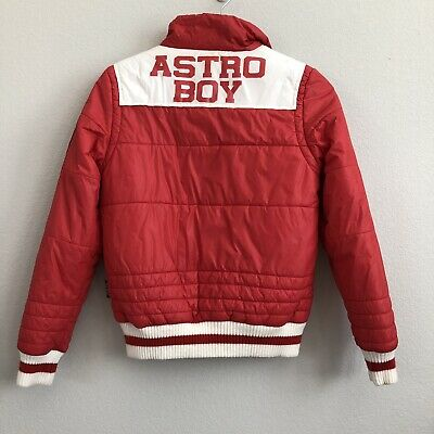 Astro Boy Red Puffer Jacket Kids Adult XS Tezuka Anime Streetwear Spell Out Rare
