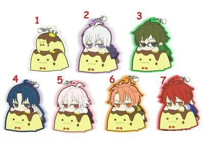 Idolish7 Trigger Re:vale Pudding King Anime Rubber Strap Keychain Keyring Charm