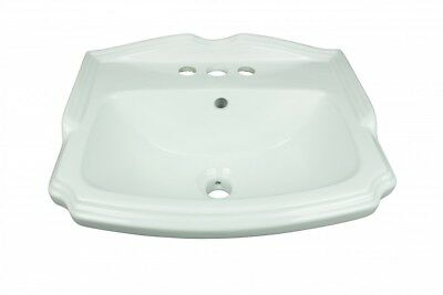 Small Wall Mount Bathroom Sink White China with Overflow | Renovator's Supply